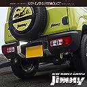 サムライプロデュース スズキ ジムニー JB64W リアバンパーガーニッシュ ナンバープレート周り 鏡面仕上げ 3P