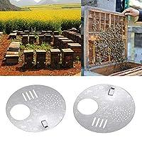Etopfashion メタルネストドア回転ネストドア 蜂のドアハンガー 蜂のドアベル 多機能亜鉛メッキ蜂の巣換気シートネストドア(5 PCS) 養蜂用品