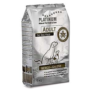 プラチナム ナチュラル ドッグフード イベリコ+グリーン 5kg グレインフリー 成犬(一歳以上)用 全犬種用 ドライフード