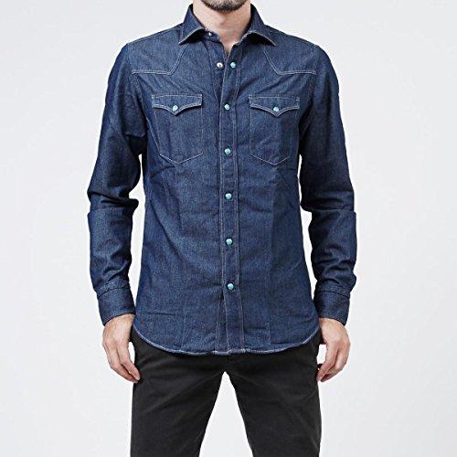 (ボルゾネッラ) BOLZONELLA セミワイドカラーシャツ/デニムシャツ/RODEO ロデオ [並行輸入品]