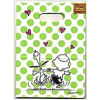 スヌーピー 4枚入持ち手穴ギフトバッグ チャーリー&スヌーピー9325【PEANUTS ラッピング 包装 紙袋 キャラクター バレンタイン お菓子】