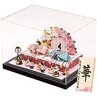 (ファンファン) ひな人形ケース飾り 手作り コンパクト ミニ ちりめん 舞桜雛 名入れ 撫子