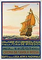 Crema da Tavola Rossaヴィンテージポスター(アーティスト: cavigiol )イタリア 24 x 36 Signed Art Print LANT-59345-710