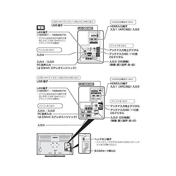シャープ 40V型 液晶 テレビ AQUOS ...の紹介画像9