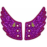 Shwings Broadway Sparkle Lace in Wings for Shoes (Fuchsia Pink)
