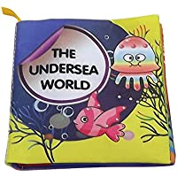 赤ちゃんの最初ファブリックBook洗濯可能柔らかい布帳幼児幼児学習の海底世界