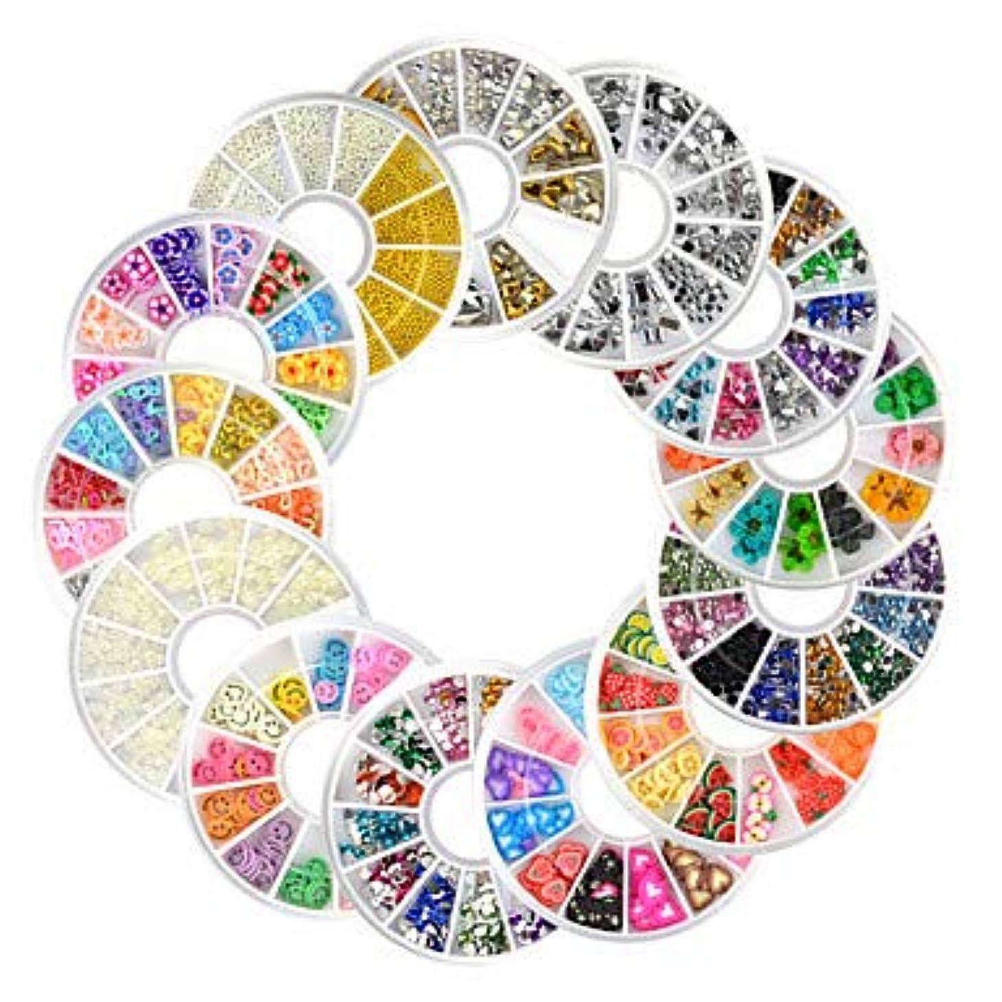 相談シャーク大理石13ピース新しいネイルアートラインストーングリッターアクリルのヒントマニキュアホイールfimoパールスタッド合金ネイルデコレーション
