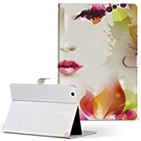 igcase MediaPad T2 10.0 Pro Huawei ファーウェイ SIM MediaPad メディアパッド タブレット 手帳型 タブレットケース タブレットカバー カバー レザー ケース 手帳タイプ フリップ ダイアリー 二つ折り 直接貼り付けタイプ 002660 クール 花 人物 カラフル