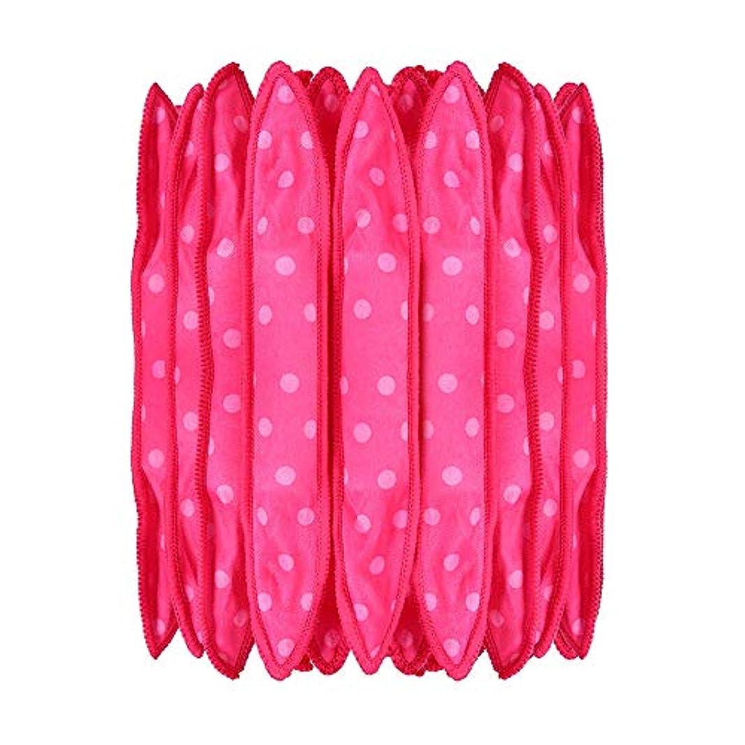 腹部に慣れイディオム30本の泡スポンジヘアカーラーは、長いピンクの赤い短い髪に柔軟な柔らかい枕DIYヘアスタイリングツールの研削砥石をロール