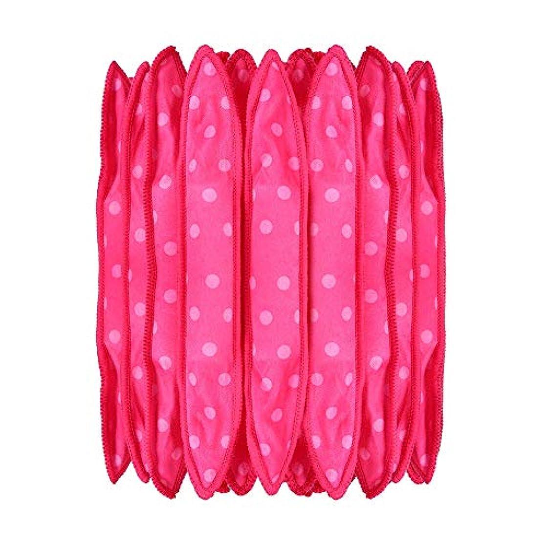 艦隊植木留まる30本の泡スポンジヘアカーラーは、長いピンクの赤い短い髪に柔軟な柔らかい枕DIYヘアスタイリングツールの研削砥石をロール