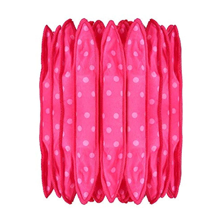 横バーマドめる30本の泡スポンジヘアカーラーは、長いピンクの赤い短い髪に柔軟な柔らかい枕DIYヘアスタイリングツールの研削砥石をロール