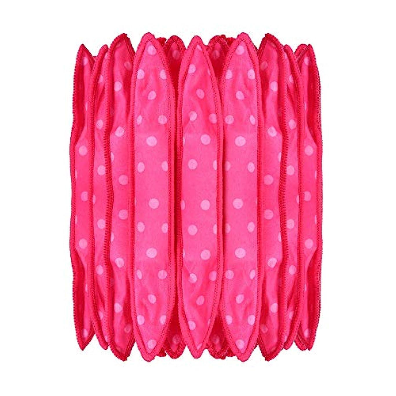 試してみる洞窟アナウンサー30本の泡スポンジヘアカーラーは、長いピンクの赤い短い髪に柔軟な柔らかい枕DIYヘアスタイリングツールの研削砥石をロール