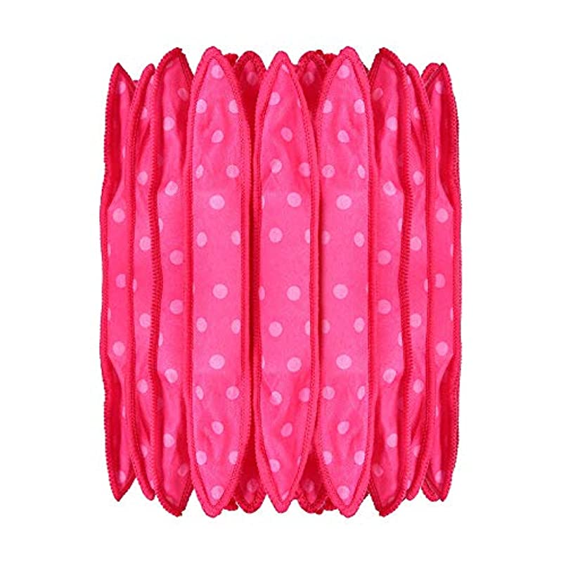 シャーロックホームズお酢故意に30本の泡スポンジヘアカーラーは、長いピンクの赤い短い髪に柔軟な柔らかい枕DIYヘアスタイリングツールの研削砥石をロール
