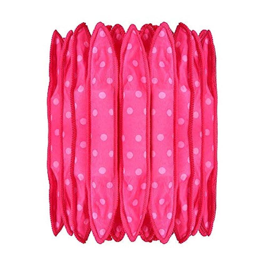 提供場所空の30本の泡スポンジヘアカーラーは、長いピンクの赤い短い髪に柔軟な柔らかい枕DIYヘアスタイリングツールの研削砥石をロール
