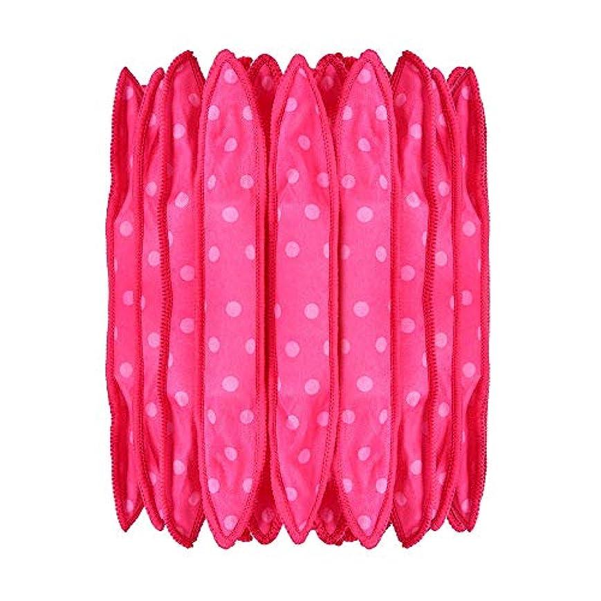 まっすぐにするコスト形式30本の泡スポンジヘアカーラーは、長いピンクの赤い短い髪に柔軟な柔らかい枕DIYヘアスタイリングツールの研削砥石をロール