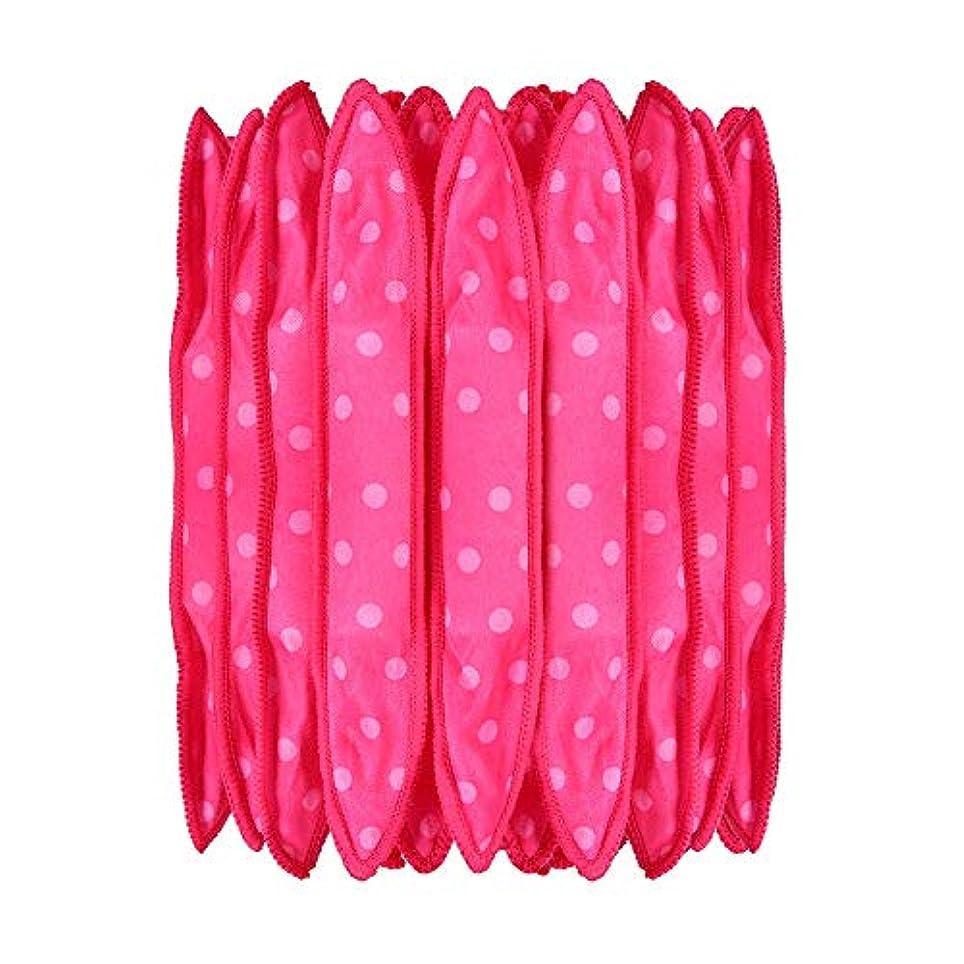 十分納得させる航海の30本の泡スポンジヘアカーラーは、長いピンクの赤い短い髪に柔軟な柔らかい枕DIYヘアスタイリングツールの研削砥石をロール
