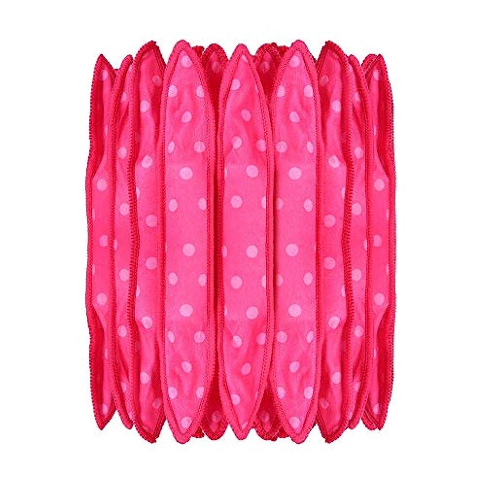 野菜制約勝者30本の泡スポンジヘアカーラーは、長いピンクの赤い短い髪に柔軟な柔らかい枕DIYヘアスタイリングツールの研削砥石をロール