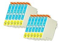 mita 互換インク シアン 12個パック PX-203 / PX-503A / PX-603F / PX-403A / PX-404A / PX-504A / PX-204 / PX-205 / PX-434A / PX-605F / PX-605FC3 / PX-675F / PX-675FC3 対応 エプソン 用
