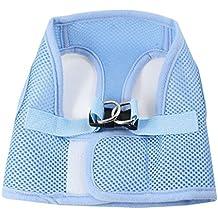 uxcell Sky Blue Release Buckle Netty Design Pet Dog Cat Harness Vest Size XS