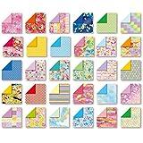 トーヨー 折り紙 和紙風 千代紙づくし 両面 15cm角 30柄 120枚入 018060 画像