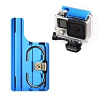 SOONSUN アルミ製 交換用 ラッチリア スナップロック バックル GoPro Hero 4 Hero 3+ Hero 4カメラ標準 防水 スケルトン ハウジング用(青) アルミ製スナップラッチ-ブルー