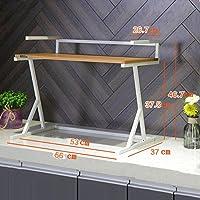 WENZHE キッチン用収納棚金属製の電子レンジラック調味料ラック、7種類あります (色 : 2#-Light Brown)