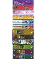12のセットSatyaお香20グラム – パープルJewel – Tufan – Freshローズ – Super Sandal – シルバーSpirit – ゴールドGleam – Shreya – Namana – ...