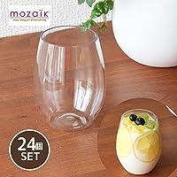 【Mozaik】モザイク ステムレス ワイングラス 24個セット 8OZ 容量280ml