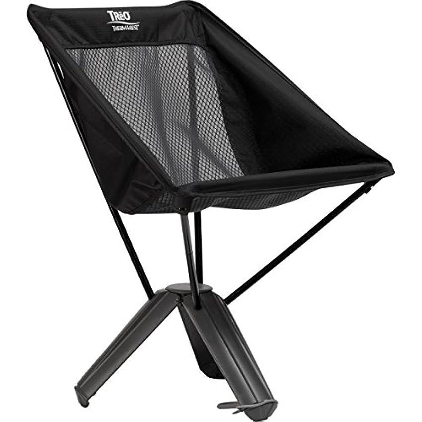推進屋内でリングバックTHERMAREST(サーマレスト) アウトドア用 椅子 トレオチェア ブラックメッシュ 30497【日本正規品】