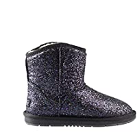 Ugg Boots Sheepskin Sequins 100% Wool Inner Ladies Women Winter Shoes - Black