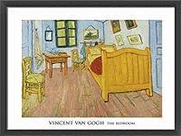 ポスター フィンセント ファン ゴッホ The Bedroom 1888 額装品 ウッドベーシックフレーム(ブラック)