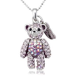 [テディベア] Teddy Bear ペンダント&ストラップ ぼくシリーズ カラー:パープル(PU) Teddy-02PU