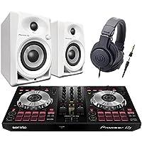 Pioneer DDJ-SB3 + DM-40-W(スピーカー) + ATH-M20x(ヘッドホン) DJ初心者セット DJセット パイオニア