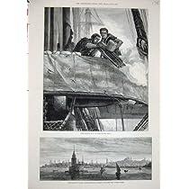 1878 のガトリング砲の軍艦のコンスタンチノープルの娘タワー