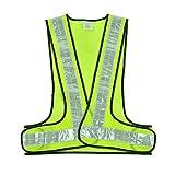 反射ベスト 安全ベスト 蛍光ベルト 高視認性 夜間作業 事故防止 作業服 道路工事 交通警備 ランニング ジョギング ウォーキング 男女兼用 サイズ調整可能