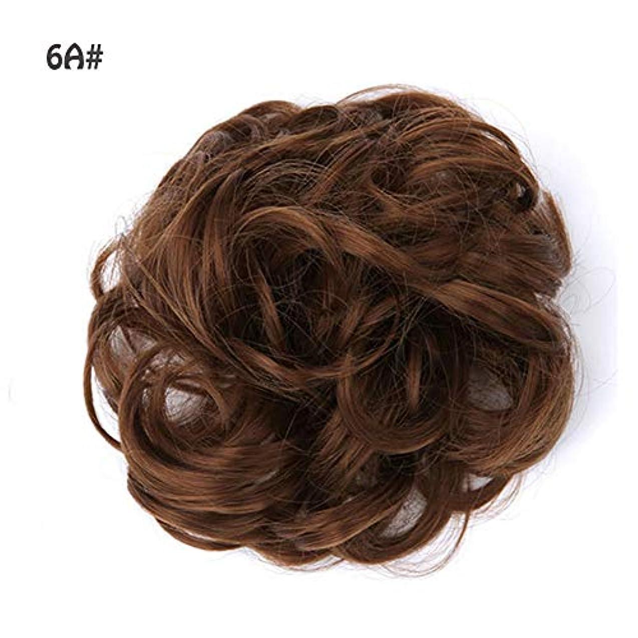 無視するきょうだい持続的ポニーテールドーナツシニョン拡張機能、女性のためのカーリー波状の作品、乱雑なシュシュ髪お団子リボンアクセサリー