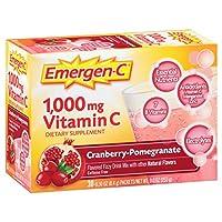 海外直送品 Alacer Emergen-C Vitamin C Drink Mix Packets Cranberry Pomegranate, Cranberry Pomegranate 30 pkts
