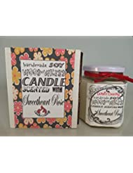 Sweetheart Roses Scented Soy Wax Container Candle With Wood Wick 12 Oz US Handmade [並行輸入品]