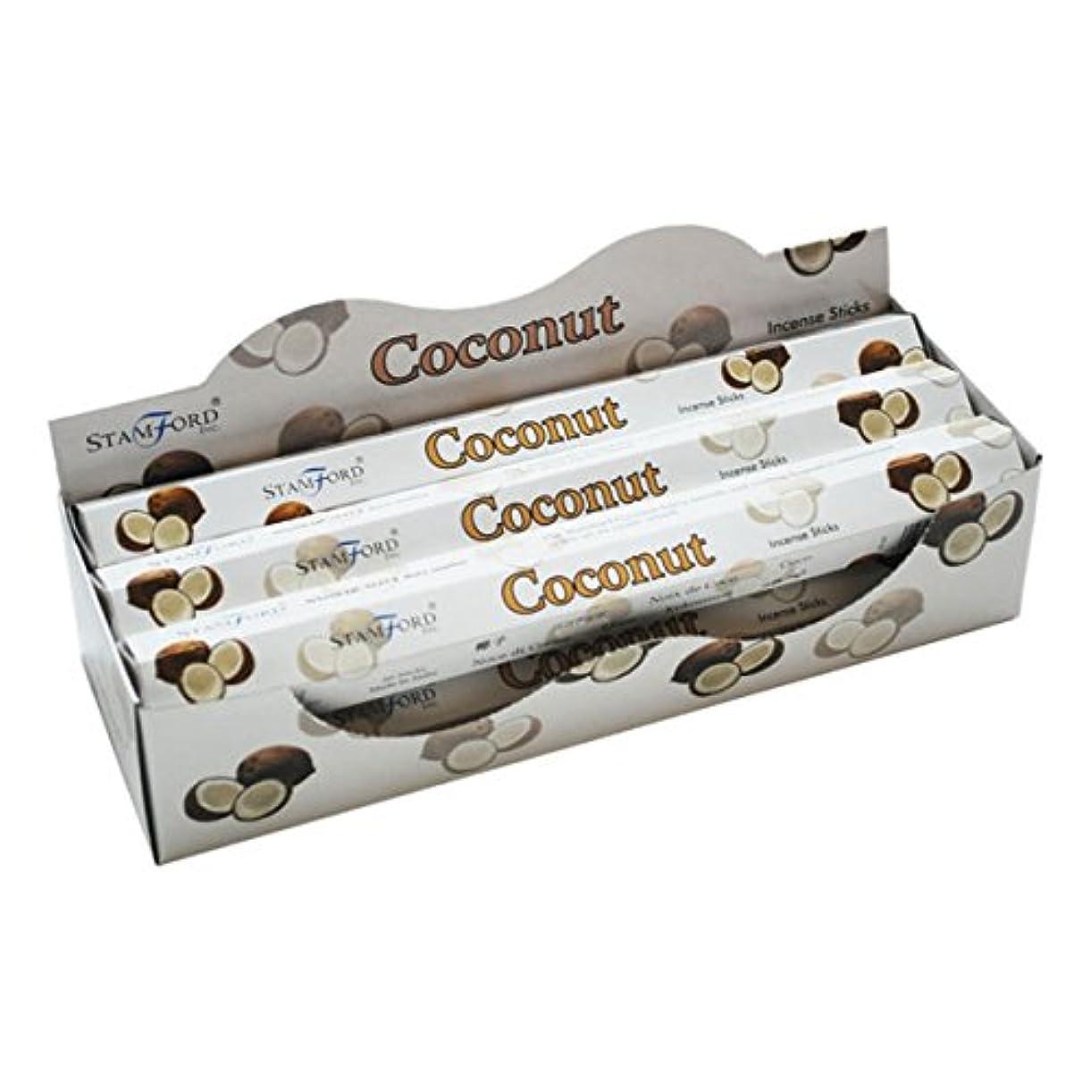 大工中絶麻痺させるStamford Coconut Incense, 20 Sticks x 6 Packs by Stamford