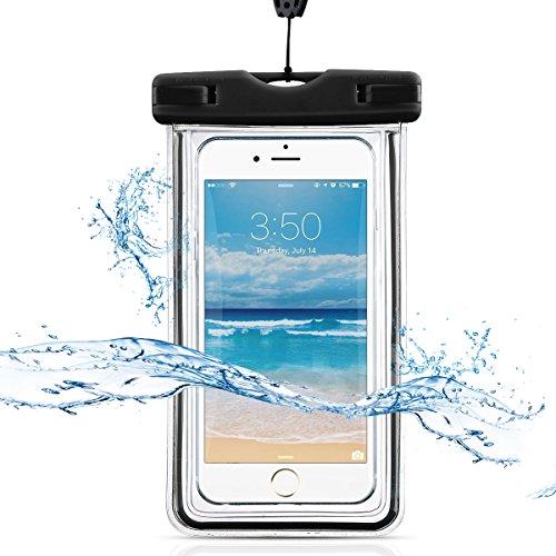 防水ケース, Oneid スマホ用 携帯防水カバー 透明パック 防水ポーチ 高感度タッチスクリーン 夜間発光 IPX8認定 お風呂 温泉 潜水 5.5インチまでのiPhoneとAndroidスマホに対応可能 ネックストラップ付属