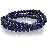 [ブリング・ジュエリー] Bling Jewelry 3正規のラピスラズリのビーズの宝石用原石ストレッチのブレスレット6mmに設定します[インポート]