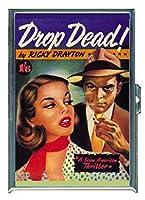 Drop Dead Fun NoirパルプステンレススチールIDまたはCigarettesケース( Kingサイズまたは100mm )