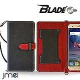 BLADE V7 MAX ケース JMEIオリジナルカルネケース VESTA ブラック ZTE ブレイド v7 マックス simフリー スマホ カバー スマホケース 手帳型 ショルダー スリム スマートフォン