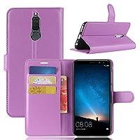 Huawei G10 バックシェル レザーカバー Mrstar 保護 皮膚 二重層 緩衝器 ケース 耐衝撃性 インパック 弁護者 保護 シェル バックシェル の Huawei G10, Purple