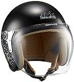 ダムトラックス(DAMMTRAX) バイクヘルメット ジェット CARINA P.BLACK-CAT レディースフリー(57~58cm)