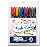 トンボ鉛筆 水性サインペン 筆之助 しっかり仕立て 10色セット WS-BH10C