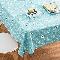 フィギュア テーブル 防水 耐油性 高温抵抗 テーブルカバー プロテクター パターン テーブル クロス 格子 長方形 スクエア-U 120x120cm(47x47inch)