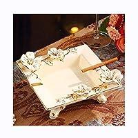 JSFQ 灰皿セラミックヨーロッパスタイルのセラミック灰皿高級コーヒーテーブルデコレーション灰皿広場人格大容量アメリカの装飾品灰皿 灰皿