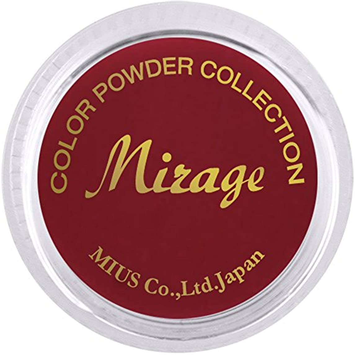 四半期チョップ溶融ミラージュ カラーパウダー N/MED-4 ボルドーレッド 7g  アクリルパウダー マットなダークシリーズ