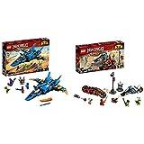 レゴ(LEGO) ニンジャゴー ジェイのイナズマファイター 70668 ブロック おもちゃ 男の子 &  ニンジャゴー カイ&ゼンのバイクレース 70667 ブロック おもちゃ 男の子【セット買い】
